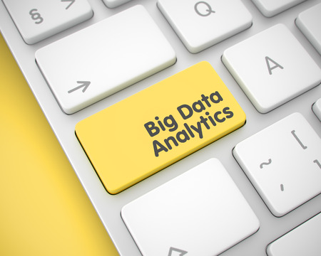 Big Data Analytics on the Yellow Keyboard Button. 3d.