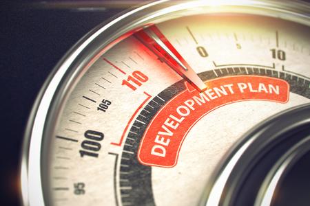 Development Plan - Business or Marketing Mode Concept. 3D. Standard-Bild