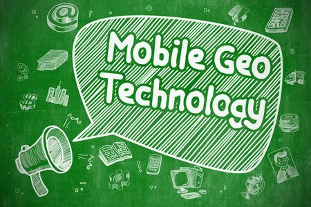 Mobile Geo Technology - Business Concept. Standard-Bild