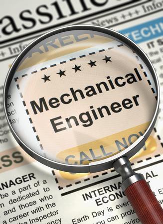 Mechanical Engineer Hiring Now. 3D.