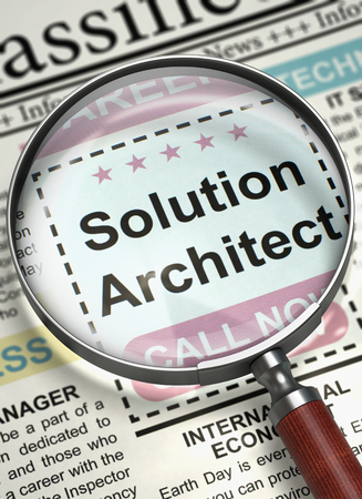 Solution Architect Join Our Team. 3D.