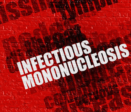 Modern health concept: Infectious Mononucleosis on the Red Brick