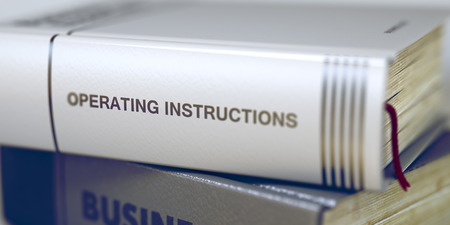Book Title of Operating Instructions. 3D. Stok Fotoğraf