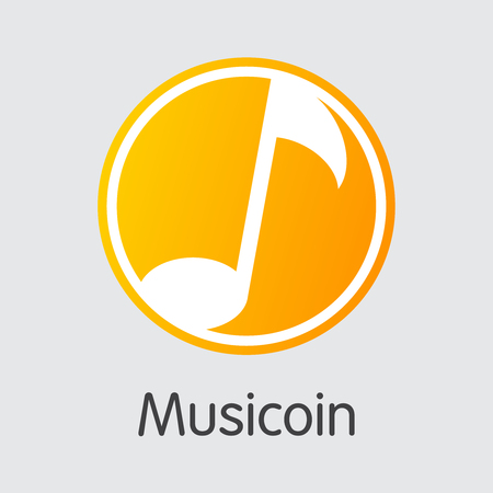 Musicoin Cryptocurrency-벡터 컬러 로고. 일러스트