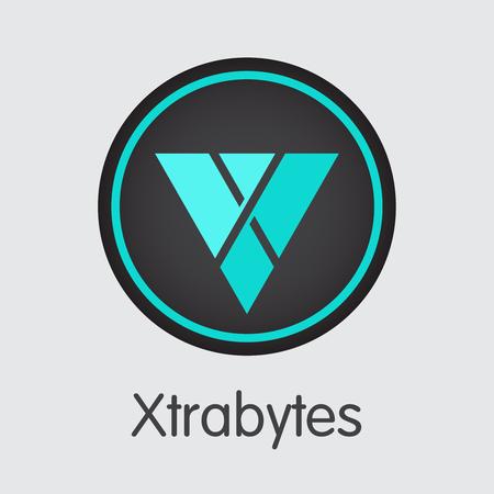 Xtrabytes Cryptocurrency Coin. Vektorgrafiksymbol von XBY.