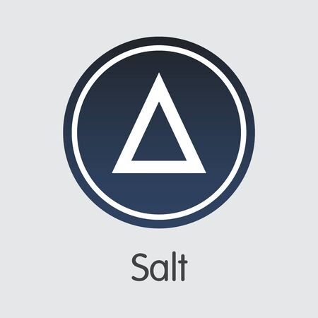 Salt Vector Illustration for Internet Money. Virtual Currency Element of SALT and Icon for using in Web Projects or Mobile Applications Vektoros illusztráció