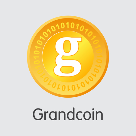 Grandcoin Crypto Currency - Vector Trading Sign.