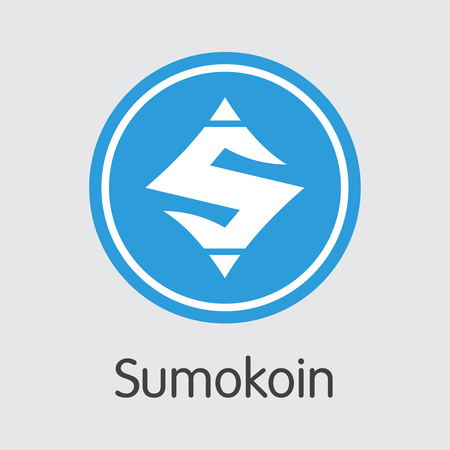 Sumokoin Blockchain Cryptocurrency - Vector Coin Image. Vettoriali