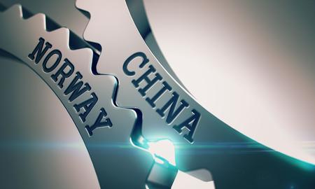 China Norway - Mechanism of Metal Gears. 3D.