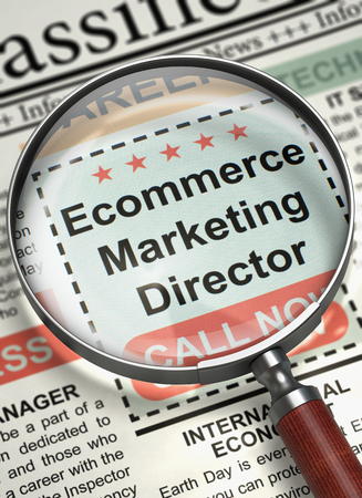 Ecommerce Marketing Director Wanted. 3D.