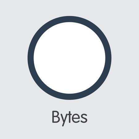 Bytes - Blockchain Cryptocurrency Graphic Symbol. Illustration