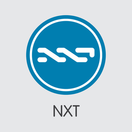 Nxt Virtual Currency - Vector Coin Illustration.