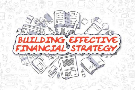 Building Effective Financial Strategy - Business Concept. Standard-Bild