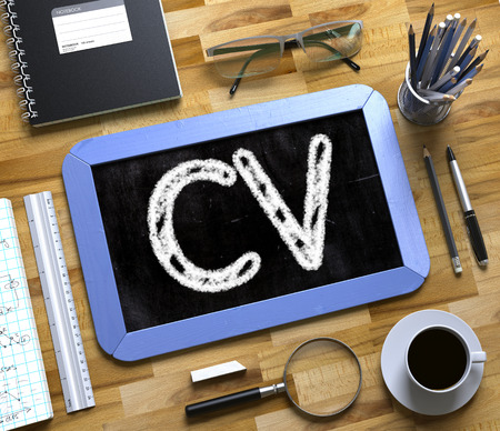 Small Chalkboard with CV Concept. 3d