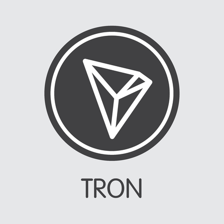 Tron - Cryptographic Currency Web Icon.