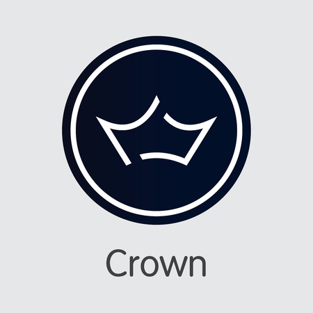 Crown - Digital Currency Pictogram logotype Symbol. Illustration