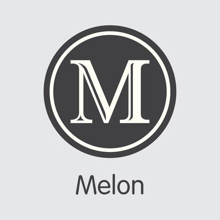 Melon Crypto Currency Coin. Vector Coin Symbol of MLN.