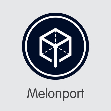 Melonport - Cryptocurrency Pictogram. Illustration