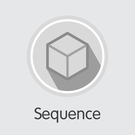 Vector Sequence Crypto Currency Icon. Mining, Coin, Exchange. Vector Colored Logo of SEQ.