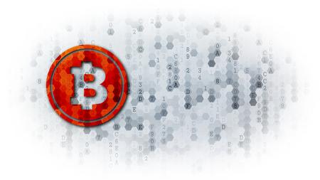 Bcash - Icon on Pixelated Background. Standard-Bild