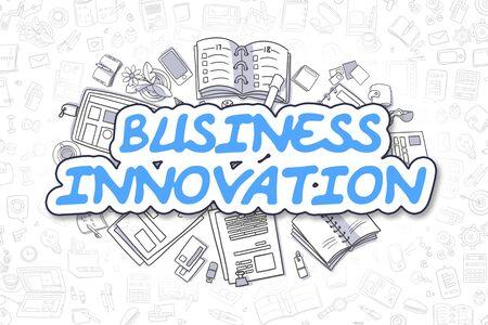 Business Innovation - Doodle Blue Word. Business Concept. Standard-Bild