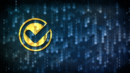 Clearpoll - Coin Image on Dark Digital Background.