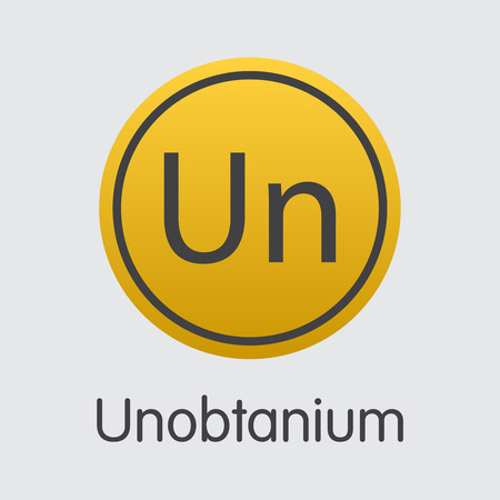 Unobtanium Virtual Currency Coin. Vector Sign Icon of UNO. Illustration