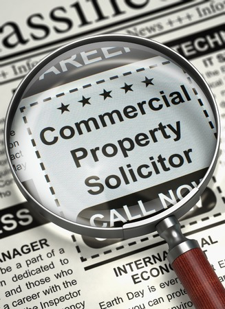 We are Hiring Commercial Property Solicitor. 3D. Stock Photo