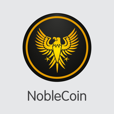 Noblecoin Crypto Currency - Vector Coin Pictogram.  イラスト・ベクター素材