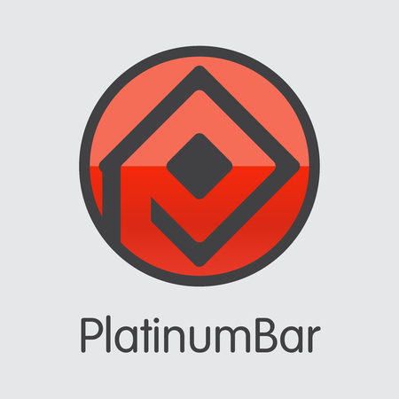 Platinumbar Digital Currency - Vector Coin Image.