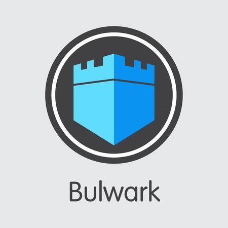 Bulwark Cryptocurrency - Vector Icon.