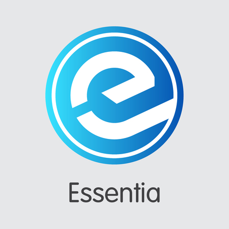 Essentia Crypto Currency Vector Trading Sign. Vektoros illusztráció