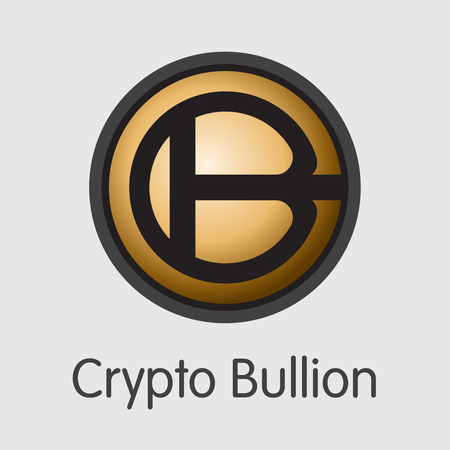 Crypto Bullion Virtual Currency - Vector Colored Logo. 일러스트