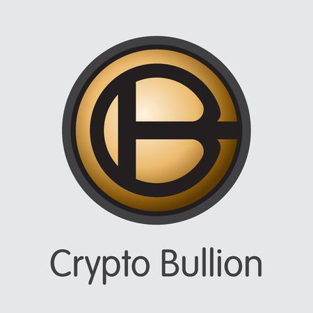 Crypto Bullion Virtual Currency - Vector Colored Logo. Ilustração