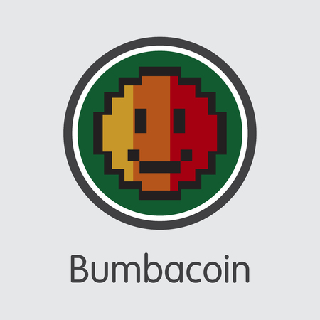 Bumbacoin Virtual Currency - Vector Sign Icon.