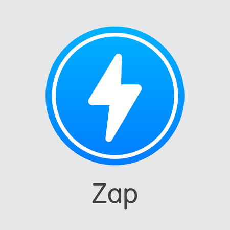 Zap Blockchain Cryptocurrency. Vector ZAP Sign Icon.  イラスト・ベクター素材