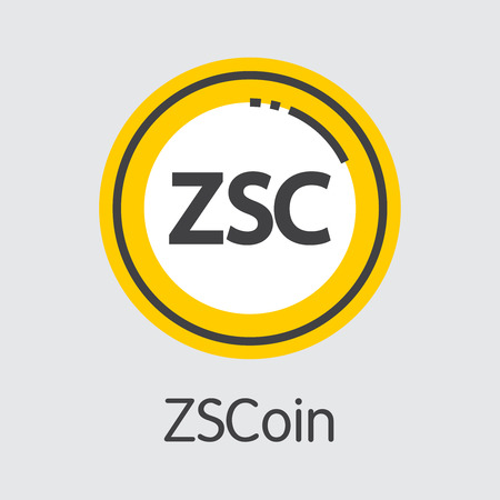 Zscoin Cryptographic Currency. Vector Coin Image.