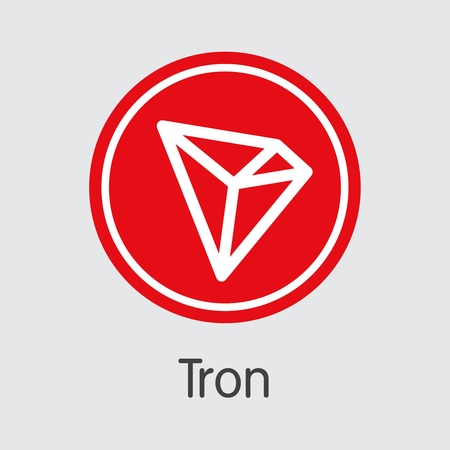 Tron Virtual Currency Coin. Vector Graphic Symbol of TRX. Ilustração