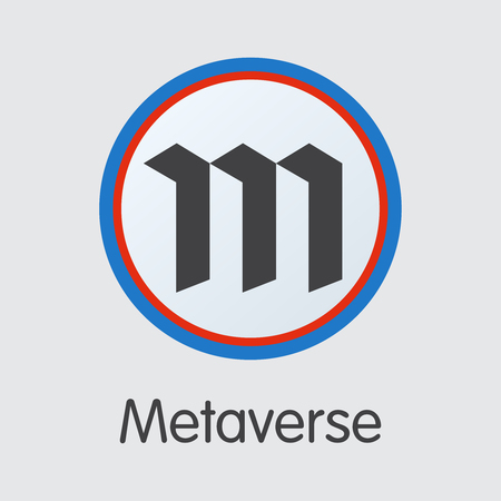 Metaverse Finance. Cryptocurrency - Vector Coin Pictogram. Modern Computer Network Technology Pictogram Symbol. Digital Sign Icon of ETP. Concept Design Element.