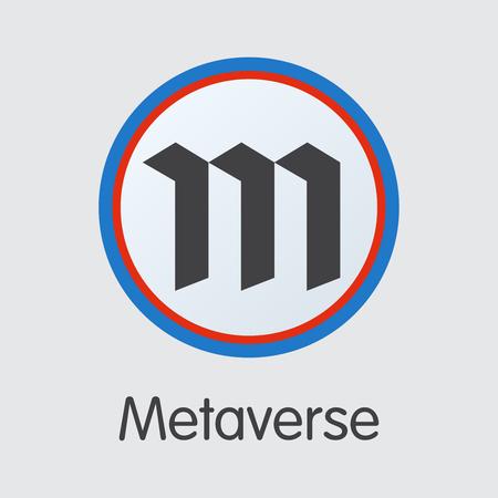 Metaverse - Crypto Currency Pictogram Symbol. Иллюстрация