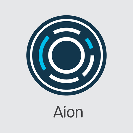 Aion Crypto Currency - Vector Sign Icon.