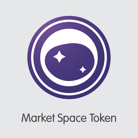 Market Space Token - Cryptographic Currency Graphic Symbol.