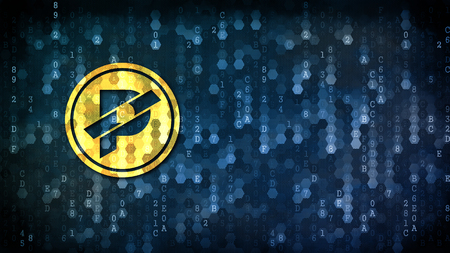 Paccoin - Coin Illustration on Digital Background.