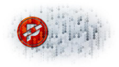 Paccoin - Coin Illustration on Dark Digital Background.