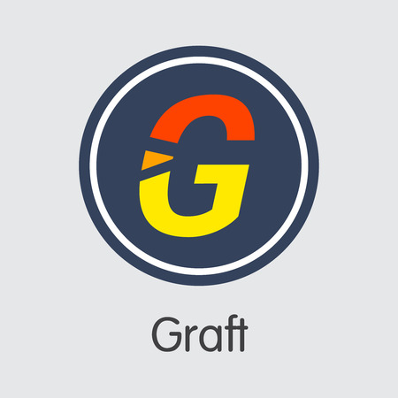 Graft Digital Currency - Vector Coin Symbol.