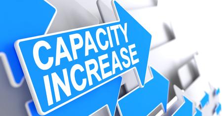 Capacity Increase - Message on the Blue Cursor. 3D. 版權商用圖片