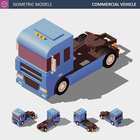 Commercial Vehicle. Isometric Vector Illustration in Four Dimensions.