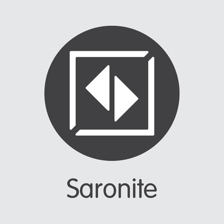 Saronite Crypto Currency Coin. Vector Pictogram of XRN. Zdjęcie Seryjne