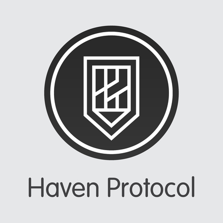 Haven Protocol Digital Currency - Vector Coin Illustration.
