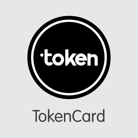 Tokencard TKN . - Vector Icon of Crypto Currency. Vecteurs